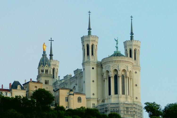 La basilique Fourvière à Lyon